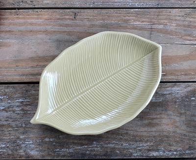 Leaf-Shaped Plate - Vanilla