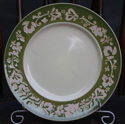 Fall Flora Plate - Green