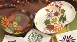 Fall Flora Luncheon Plate