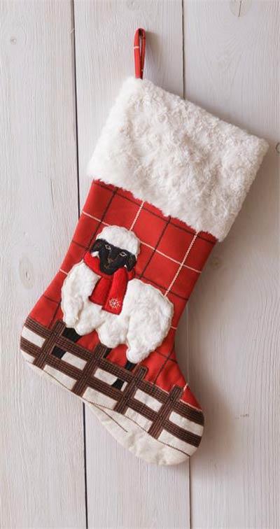 Merry Christmas Sheep Stocking
