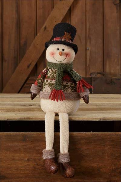 Snow Lodge Sitting Snowman