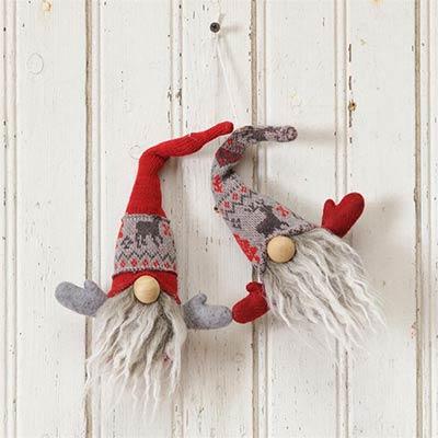Snow Lodge Gnome Ornaments (Set of 2)