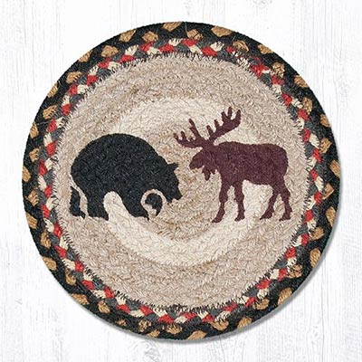 Bear/Moose Braided Tablemat - Round (10 inch)