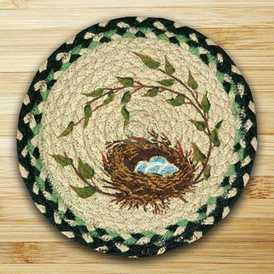 Robins Nest Braided Jute Tablemat - Round (10 inch)