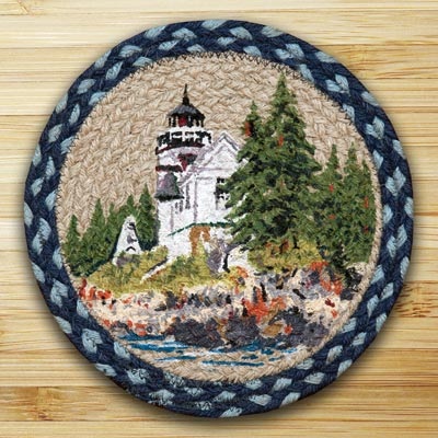 Bass Harbor Braided Tablemat - Round (10 inch)