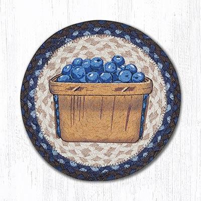Blueberry Box Braided Tablemat - Round (10 inch)