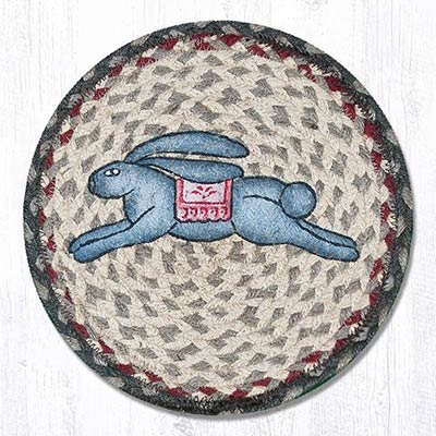 Leaping Bunny Braided Tablemat - Round (10 inch)