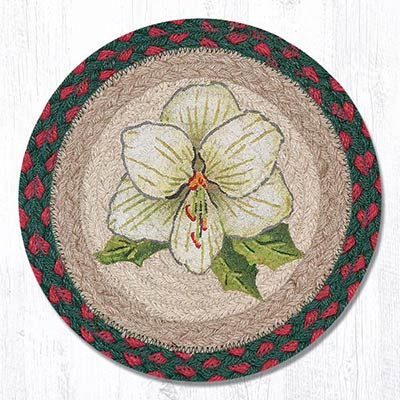 Christmas in Bloom Braided Tablemat - Round (10 inch)