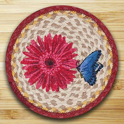 Blossom and Butterfly Braided Tablemat - Round (10 inch)
