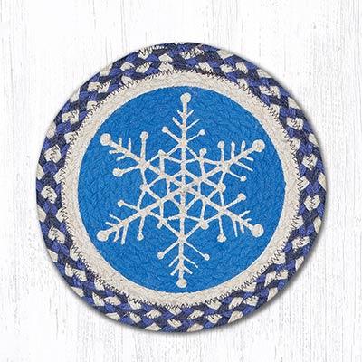Snowflake Braided Tablemat - Round (10 inch)