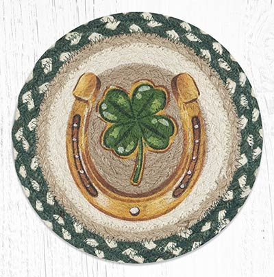 Clover Horseshoe Braided Tablemat - Round (10 inch)