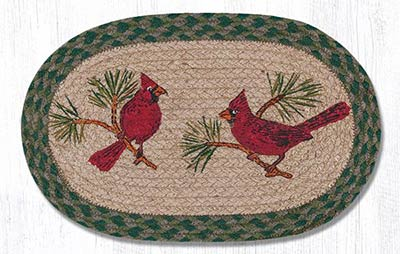 Cardinal Hand Braided Tablemat - Oval (10 x 15 inch)