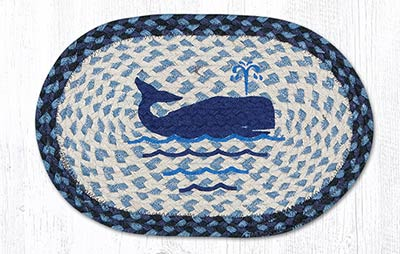 Whale Braided Tablemat - Oval (10 x 15 inch)