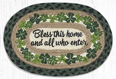 Bless This Home Braided Oval Tablemat (10 x 15 inch)