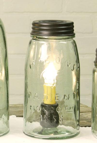 Mason Jar Lamp - Quart