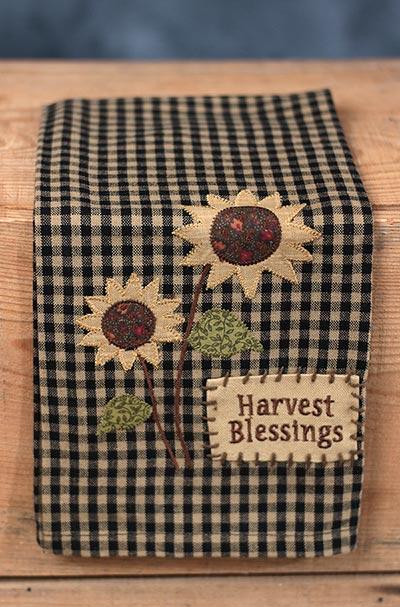 Harvest Blessings Sunflower Kitchen Towel