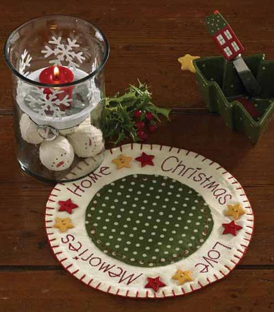 Home for Holidays Round Accent Mat