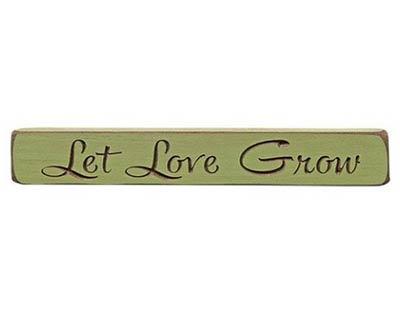 Let Love Grow Wood Shelf Sitter