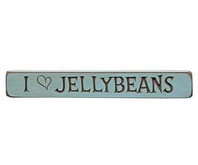 I Love Jelly Beans Wood Shelf Sitter