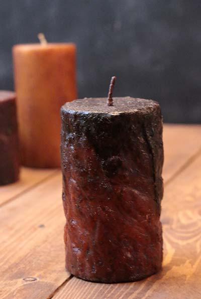 Rolled Cinnamon Pillar Candle - 2 x 3 inch