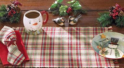 Jingle Bells Christmas Table Runner, 54 inch