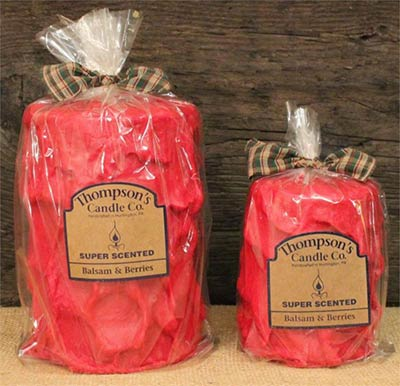 Balsam and Berries Primitive Pillar Candle - Medium