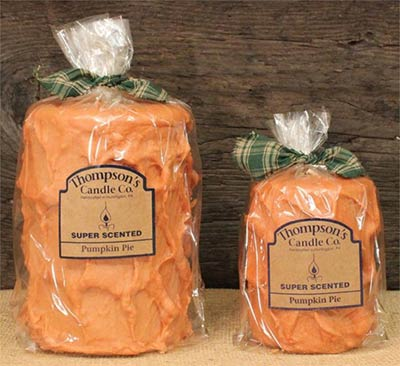 Pumpkin Pie Primitive Pillar Candle - Medium