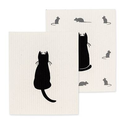 Cats Swedish Dish Cloths (Set of 2)