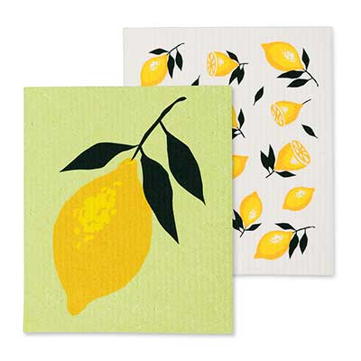 Lemon Swedish Dish Cloths (Set of 2)
