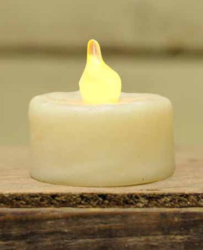 Ivory Battery Tealight