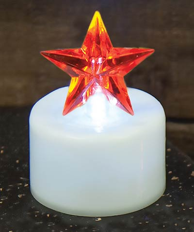 Red Star Timer Tealight Candle