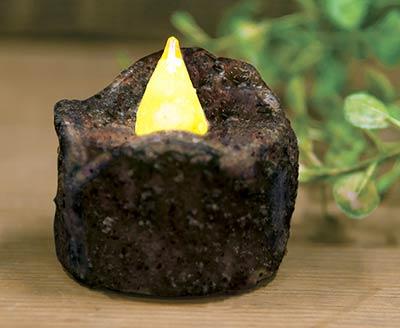 Burnt Mustard Flickering Timer Tealight Candle