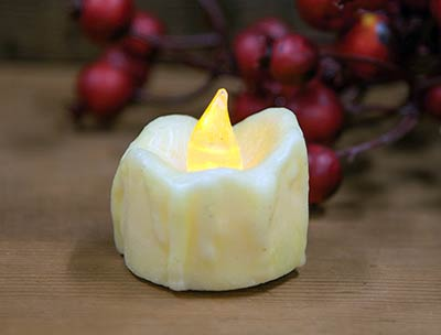 Ivory Flickering Timer Tealight Candle