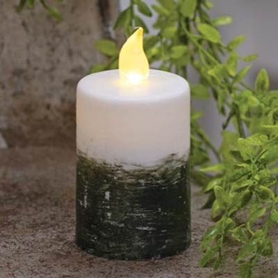 Ombre Timer Pillar Candle - 2.25 x 4 inch