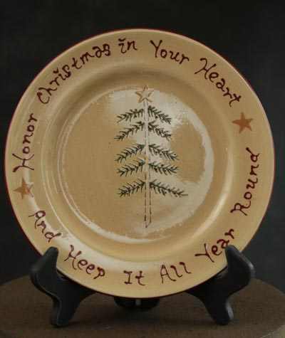 Holiday Sentiment Accent Plate