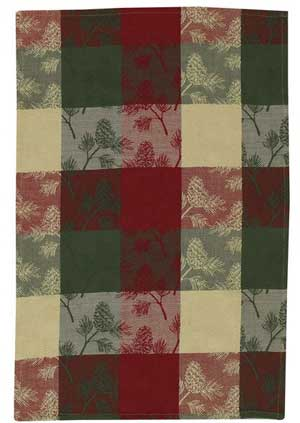 Holiday Pinecone Dishtowel