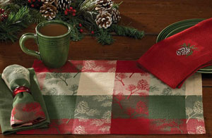 Holiday Pinecone Napkin