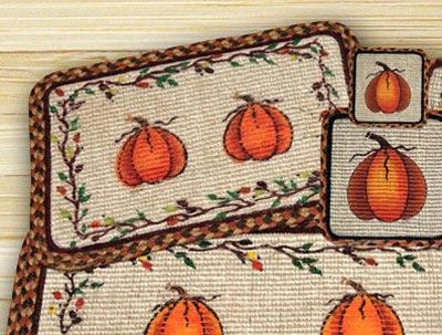 Harvest Pumpkin Wicker Weave Placemat