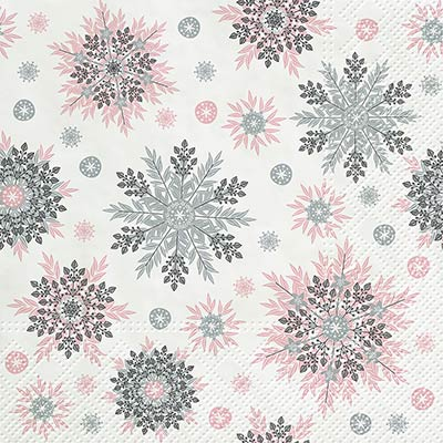 Snowflakes Luncheon Paper Napkins