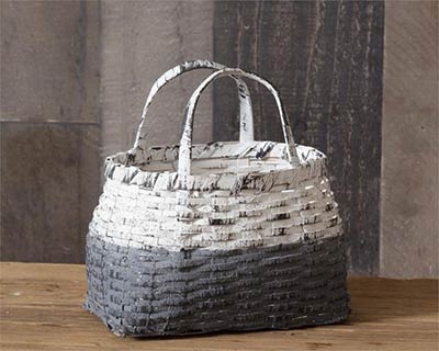 Gray & Whitewash Basket