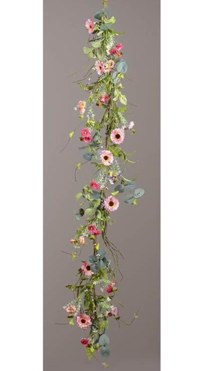 Pink Cosmo Floral Garland