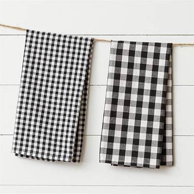 Black & White Checked Tea Towel