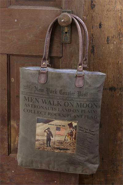 American Astronaut Vintage Canvas Handbag