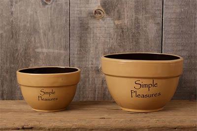 Simple Pleasures Primitive Bowls (Set of 2)