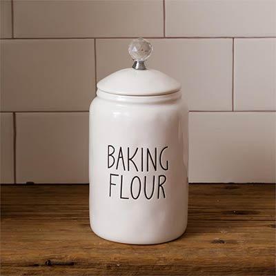 Simple Farmhouse Flour Canister