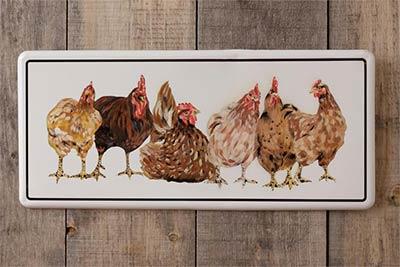 Farm Chickens Metal Wall Decor