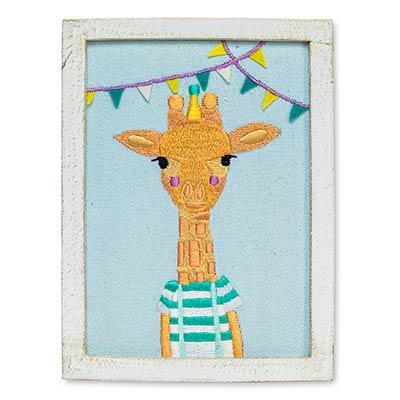 Giraffe with Pennants Wall Art