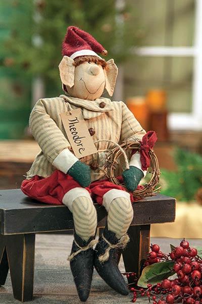 Primitive Christmas Elf Doll