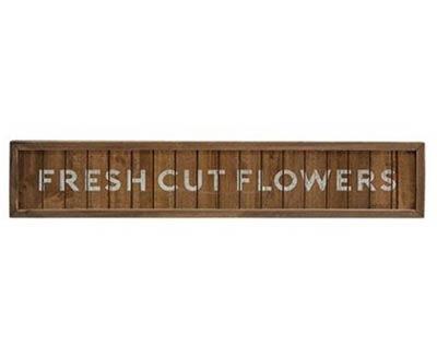 Fresh Flowers Framed Sign