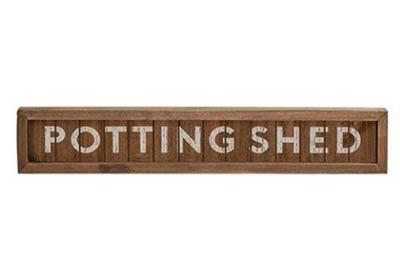 Potting Shed Framed Sign